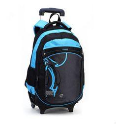 9237a51839 Hot Cartoon Waterproof Boys Trolley School Bag Classic Travel Luggage  Suitcase On Wheels Kids Rolling Backpack girl Book Bags