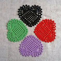 Coasters big heart Appliques shapes hearts Hearts lace