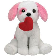 361bb609370 TY Beanie Baby - AMORE the Pink   White Dog (6 inch)