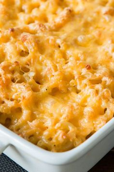 When we think of macaroni and cheese we always think of Grandma Carol's ultimate comfort food, her cheesy Southern Macaroni and Cheese!