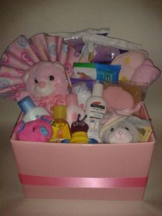 Item number [TBA] - Baby Girl Basket  For more details, please visit our facebook page: www.facebook.com/popitinaboxbusiness