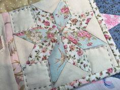 Estrella de Ocho Puntas, tutorial paso a paso para aprender a hacer Estrellas de Patchwork. Con explicaciones y fotografías.