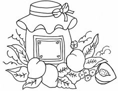Riscos Frutas Para Pintura Colorindodesenhos Pelautscom