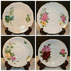 Shabby Chic Saucers at Shellyssselectsalvage.com
