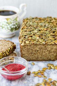 Pepita Quinoa Chia Bread is gluten-free, dairy-free, and vegan. A delicious yeast-free bread that is high in protein, fiber, and healthy fats.