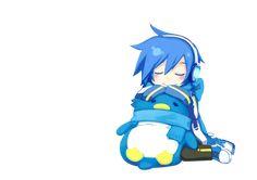Vocaloid Kaito | Render Vocaloid - Renders Vocaloid Chibi Kaito Bleu Pingouin Peluche ...