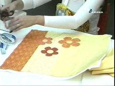 Almofada em apliquê da Flor I - Maria Adna Ateliê - Cursos e aulas de apliquê em tecidos - Almofadas - YouTube
