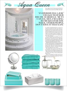 """Aqua Queen"" by divacrafts on Polyvore"