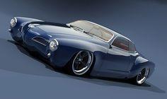 Karmann Ghia, nice artwork.