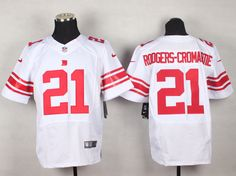 Men's NFL New York Giants #21 Rodgers-Cromartie White Elite Jersey