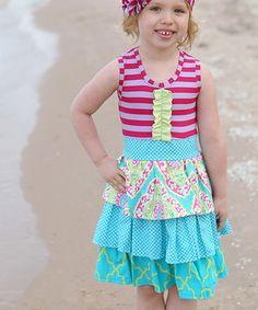 Look at this #zulilyfind! a little posh Light Blue Palm Springs Emma Dress - Toddler & Girls by a little posh #zulilyfinds
