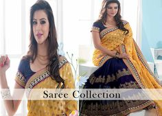 Buy #Bollywood & printed #Sarees online from hytrend. Shop Here >> http://hytrend.com/women/ethnic-wear/sarees.html