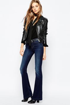 Flared Jeans: How Most Stylish Women Wear Them by PeopleandStyles.com