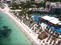 Awesome aerial view of Excellence Playa Mujeres! #BeachResort #Mexico