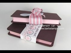 VIDEO - Anyone for an Ice Cream Sandwich? Barb Mullikin Stampin& Up! 3d Paper Crafts, Scrapbook Paper Crafts, Scrapbooks, Envelope Punch Board Projects, Sandwich Box, Gift Cards Money, Boxes And Bows, Cute Box, Craft Bags