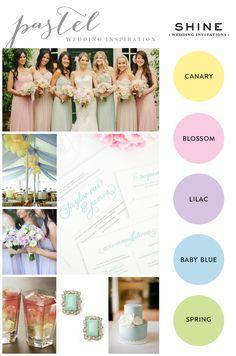 Pastel Wedding Inspiration - http://www.shineweddinginvitations.com/weddings/wedding-invitations