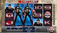 Captain America Slot Game Screenshots