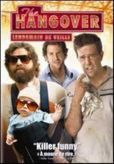 The hangover (DVD) / Two days before his wedding, Doug and his groomsmen hop into Tracy's father's Mercedes for a 24-hour stag party in Las Vegas. The morning after their arrival in Vegas, they awaken in their Caesars Palace hotel suite each with the worst hangover. No one remembers what happened in the past twelve or so hours. The suite is in shambles and Doug is missing. Phil, Stu and Alan try to find Doug using only what little pieces of information they have.