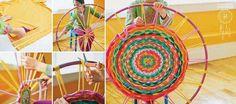 Hula Hop t-shirt rug