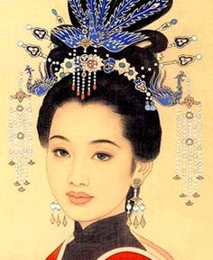 Amazing ancient Chinese hairstyle.