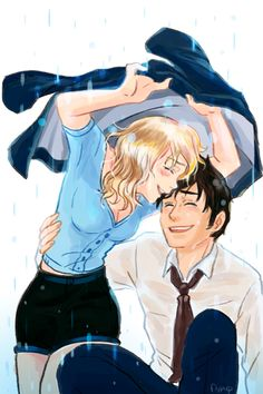 """Rose and The Doctor. A cute, silly picture that in no way shows that Rose preferred the tenth Doctor to the ninth nor does it diminish the importance of either relationship.  """"Edited for comments below""""."""
