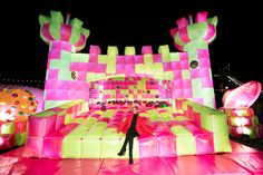 Worlds First Lightup Jumping Castle for Adults