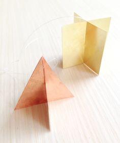 DIY Copper + Brass Geometric Ornaments