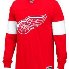 Detroit Red Wings Men s XL Reebok Win the Puck Long Sleeve Jersey Shirt feb4c7f02