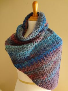 Free+Crochet+Print+Scarf+Pattern   ... Flux...Adventures in Stitching: Free Crochet Pattern...Kristen Shawl