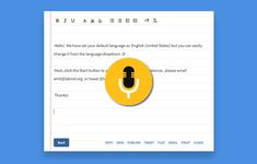 Dictation.io online app accurately transcribes your speech to text in real time via Google Chrome web browser. You can add paragraphs, punctuation marks...