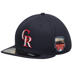 ee72bea403 Colorado Rockies New Era Authentic Collection Home Run Derby Diamond Era  On-Field 59FIFTY Fitted Hat - Navy. Mlb ...