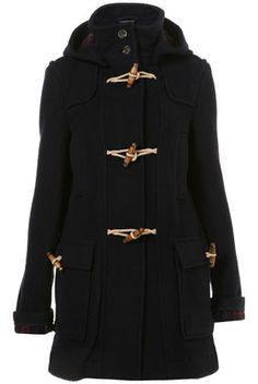 Top winter 2011 contender so far: Navy Bound Seam Duffle Coat from Topshop        Price: £89.00 (or €135 including irish tax, boo)