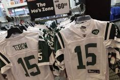 Nike Inc. claims in a lawsuit that Reebok is using Tebow's name on Jets-related apparel without permission.