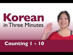 Learn Korean - Counting from 1-10 in Korean