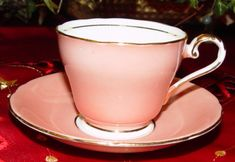 aynsley c126 bone china demitasse cup and saucer made in england pink and gold
