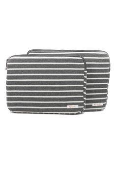 Striped Fleece Laptop Case   Moorea Seal
