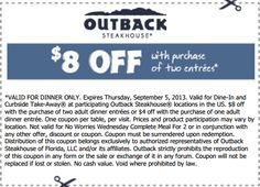 photo regarding Outback Coupons $10 Off Printable identify 14 Suitable Outback Discount coupons pics inside of 2013 Outback steakhouse