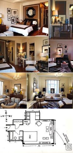 Small studio apartment layout ideas.