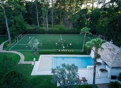 because you can play soccer outside and after you get tired you can just get in swimming pool .