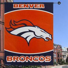 Denver Broncos Vertical Banner Flag
