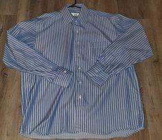GUCCI BLUE Striped Long Sleeve Casual Business Shirt Size 44 Classic Fit #Gucci #ButtonDown #Business