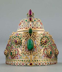 Morocco   Crown inlaid with gemstones   ca. 1800   ©Islamic Arts Museum…