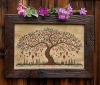 "Gallery.ru / kazemira - Альбом ""20"" Cross Tree, Cross Stitch Tree, Ribbon Embroidery, Cross Stitch Embroidery, Cross Stitch Patterns, Soft Autumn, Easter Tree, Dmc Floss, Craft Patterns"