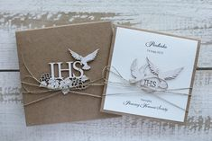 Calligraphy Fonts, Communion, Wedding Cards, Place Card Holders, Babys, Projects, Handmade, Scrapbooking, Diy