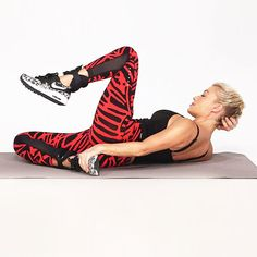 Get ready for killer abs! Watch this video with celebrity fitness trainer Tracy Anderson to learn how to do the Cross & Kick, a calorie-torching move that tones your legs and core. While this exercise looks complicated, keeping your abs engaged will help make the movement easier. #HEALTHxTA | Health.com