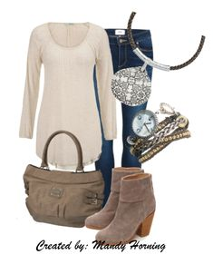 feat. Premier Designs jewelry  #pdstyle  white ls tee, taupe bag, taupe booties