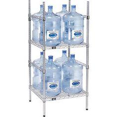 5 gallon water bottle storage rack 8 bottle capacity