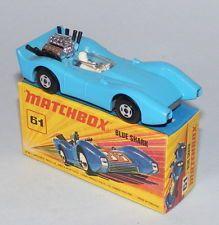 MATCHBOX SUPERFAST #61 BLUE SHARK PRE-PRODUCTION COLOUR TRIAL SKY BLUE BODY RARE