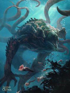 Monstros marinhos kohls womans sweaters - Woman Knitwear and Sweaters Monster Art, Monster Design, Kraken Sea Monster, Monster Hunter, Creature Feature, Creature Design, Mythological Creatures, Mythical Creatures, Subnautica Creatures