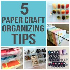 Having a de-cluttered craft space is one way to keep your creative juices alive & flowing. Check out some innovative ideas for organizing craft supplies & spend more time paper crafting & less time cleaning!